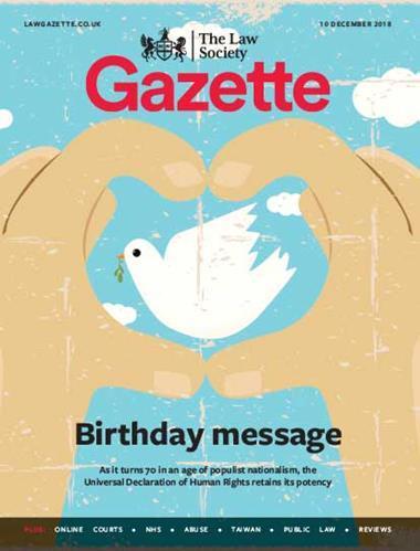 Law Society Gazette 10 December 2018
