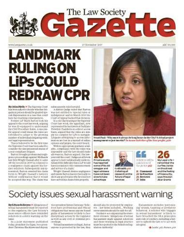 Law Society Gazette 27 November 2017
