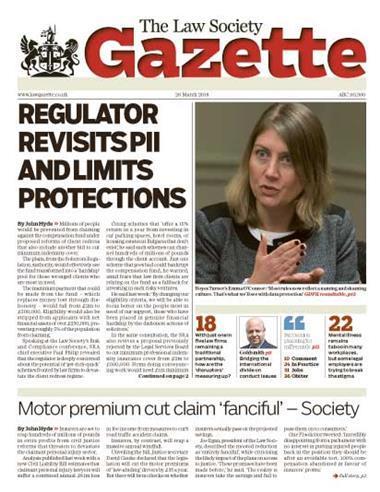 Law Society Gazette 26 March 2018