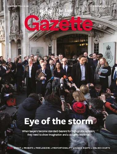 Law Society Gazette 12 November 2018