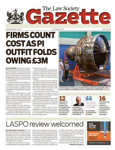 Law Society Gazette 23 January 2017