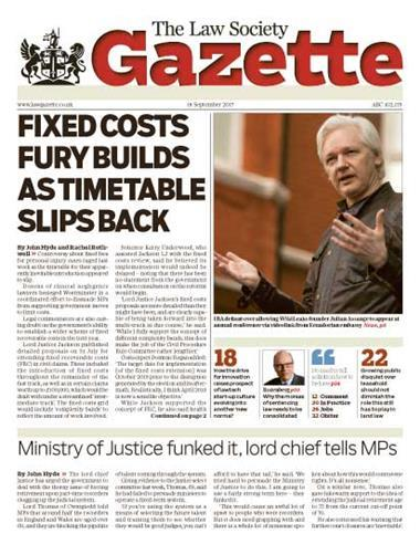 Law Society Gazette 18 September 2017