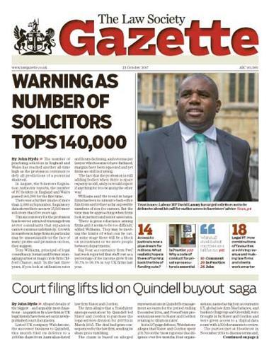 Law Society Gazette 23 October 2017