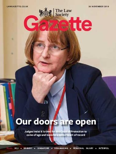 Law Society Gazette 26 November 2018