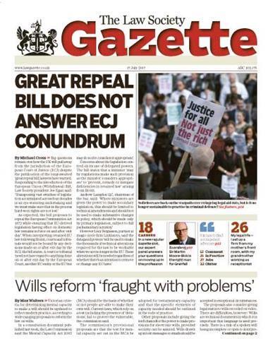 Law Society Gazette 17 July 2017