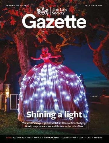 Law Society Gazette 15 October 2018