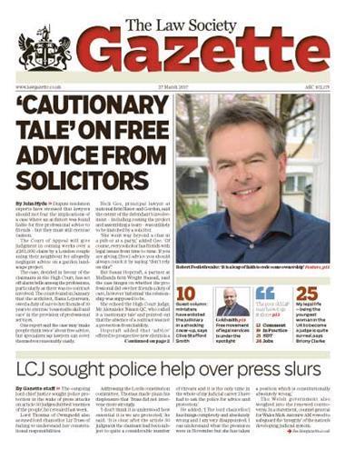 Law Society Gazette 27 March 2017