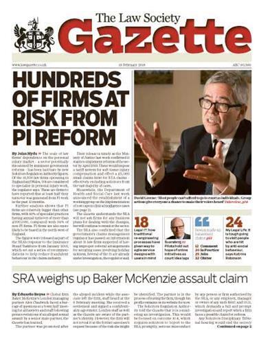 Law Society Gazette 19 February 2018