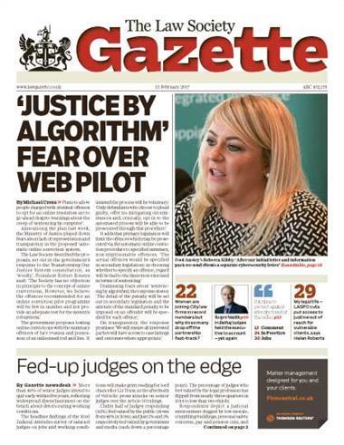 Law Society Gazette 13 February 2017