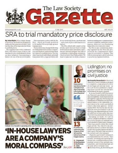 Law Society Gazette 3 July 2017