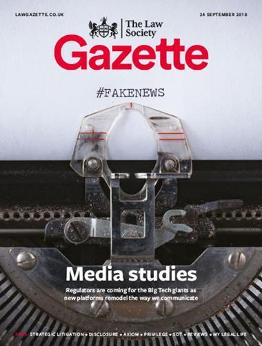 Law Society Gazette 24 September 2018