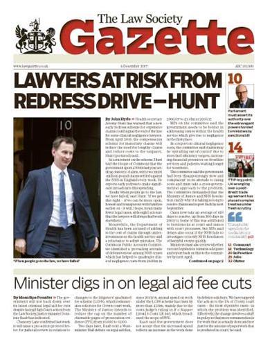 Law Society Gazette 4 December 2017