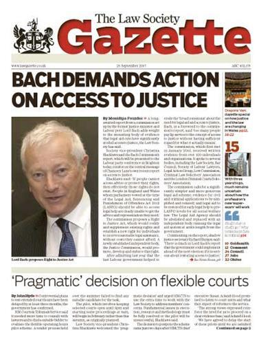 Law Society Gazette 25 September 2017