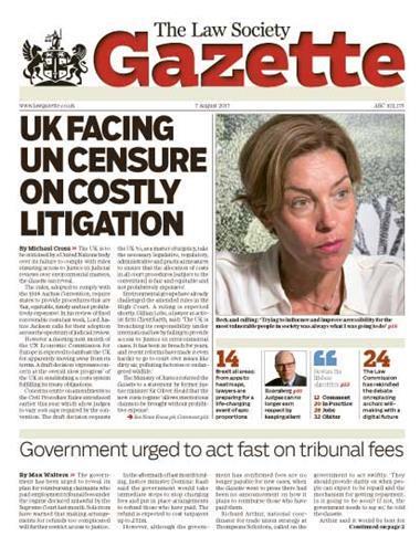 Law Society Gazette 7 August 2017