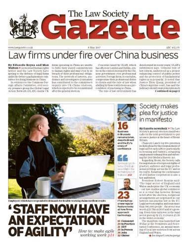 Law Society Gazette 8 May 2017