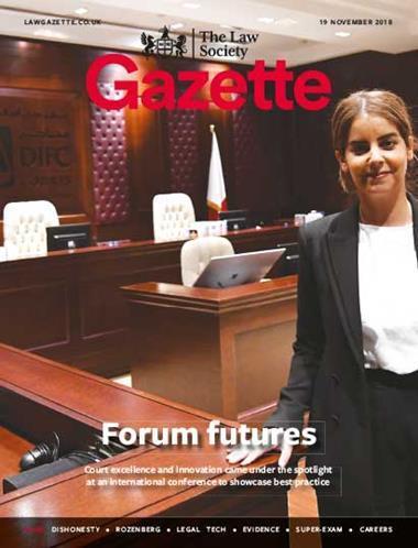 Law Society Gazette 19 November 2018