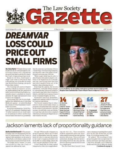 Law Society Gazette 5 March 2018