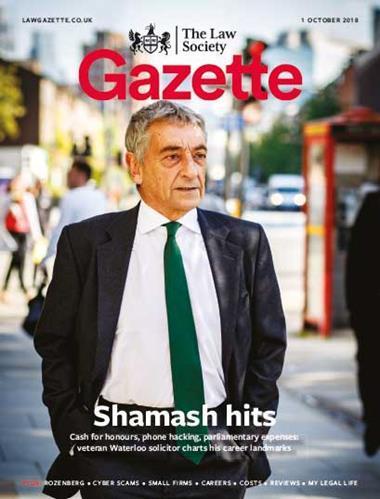 Law Society Gazette 1 October 2018