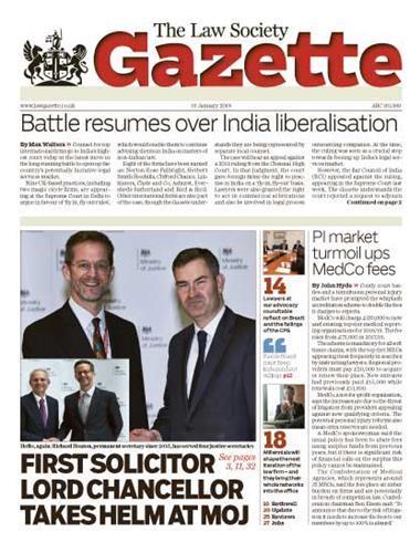 Law Society Gazette 15 January 2018