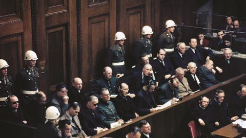 Nazi defendants on trial in Nuremberg