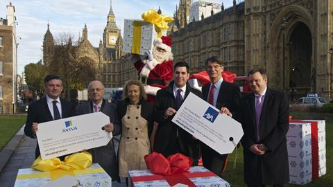 Shadow justice secretary Richard Burgon (third from right) launches campaign against PI reforms.