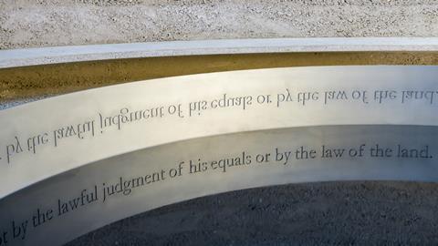 New Magna Carta memorial in Runnymede 2