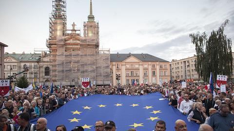 Poland judicial reform protests July 2018