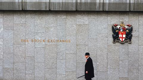 London stock exchange street sign