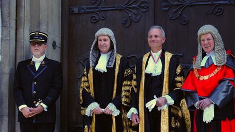 David Lidington on steps of RCJ before being sworn in as lord chancellor