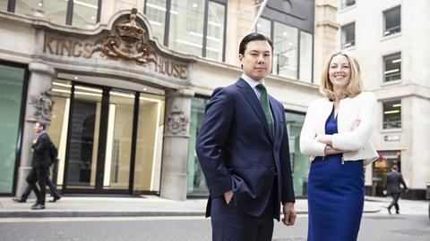 New joint heads of the London office, Lee Adams and Catherine Thomas.