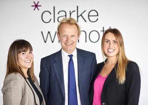 Rebecca Clarke, senior associate; Anthony Fairweather, private client managing director; Nicola Walker, senior associate