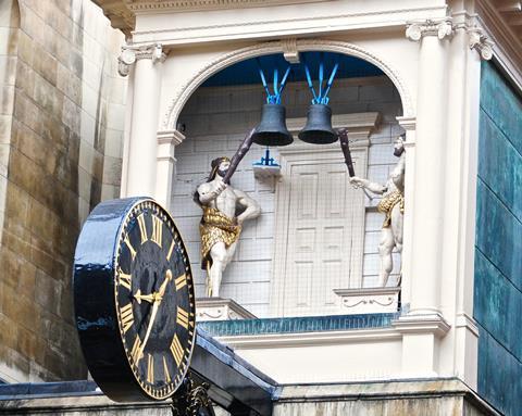 Clock of St Dustan-in-the-West, Fleet St
