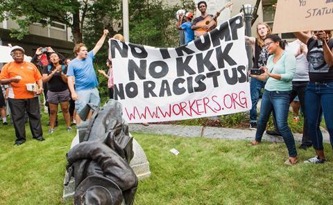 Protestors topple Confederate statue in North Carolina