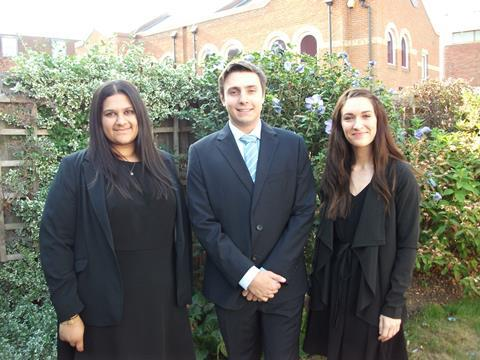 cHahna Hussain, Oliver Wilson and Rebekah Sutcliffe