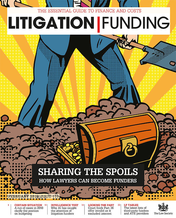 Litigation Funding Cover February 2019