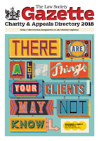 Law Society Gazette Charity & Appeals Directory 2018
