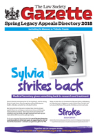 Law Society Gazette Spring Legacy Appeals Directory 2018