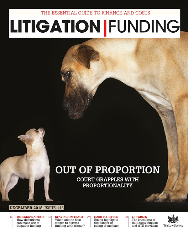 Litigation Funding cover October 2018
