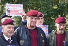 Veterans of the Parachute Regiment protest against Bloody Sunday prosecutions.