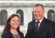 Thomas Eggar managing partner Vicky Brackett and Andrew Tucker