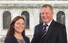 Thomas Eggar managing partner Vicky Brackett and Andrew Tucker