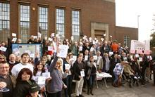 Chichester court protest
