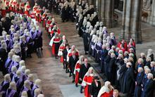 Judges' procession in Westminster Abbey