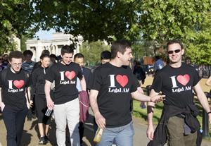 I heart legal aid team at London Legal Walk 2015