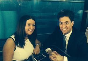 Nicola Braithwaite and Ed Miliband